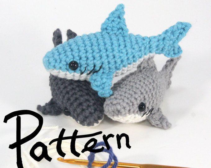 Amazon.com: Geekirumi! handmade crochet amigurumi shark stress ... | 540x680