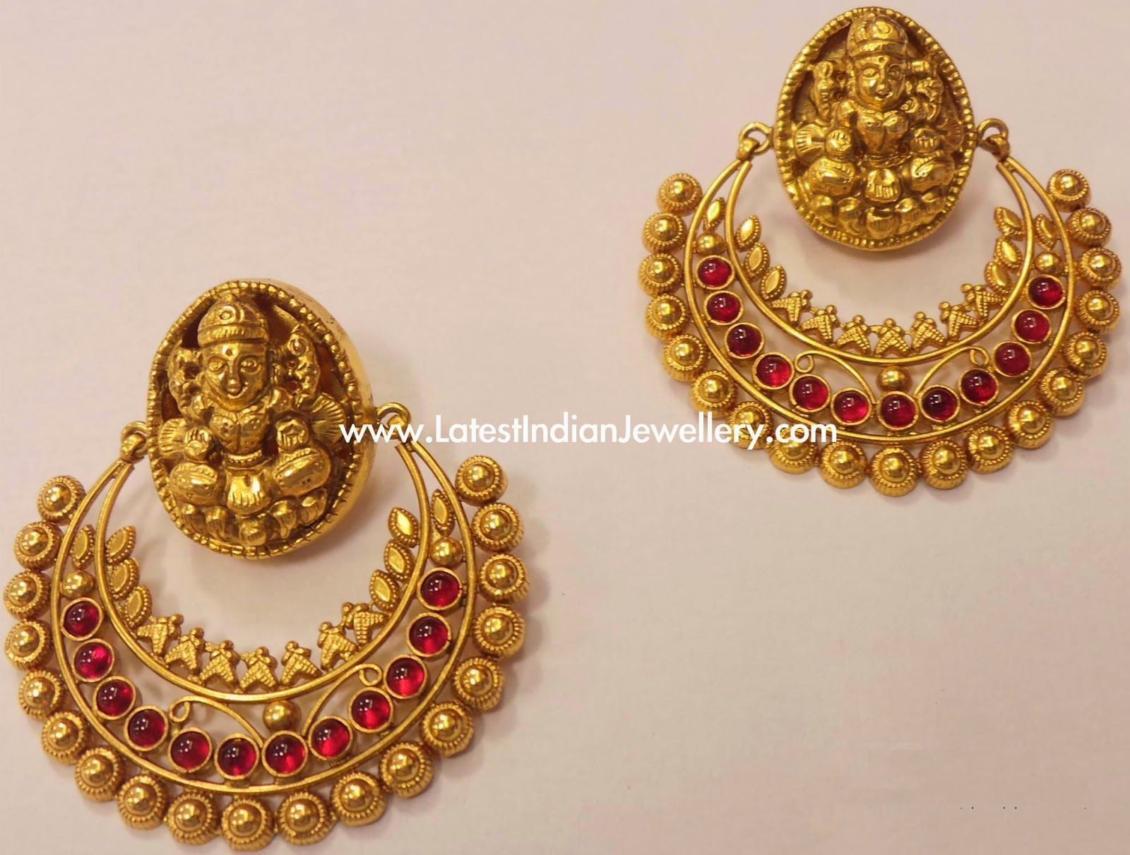 Ram Leela Antique Gold Earrings