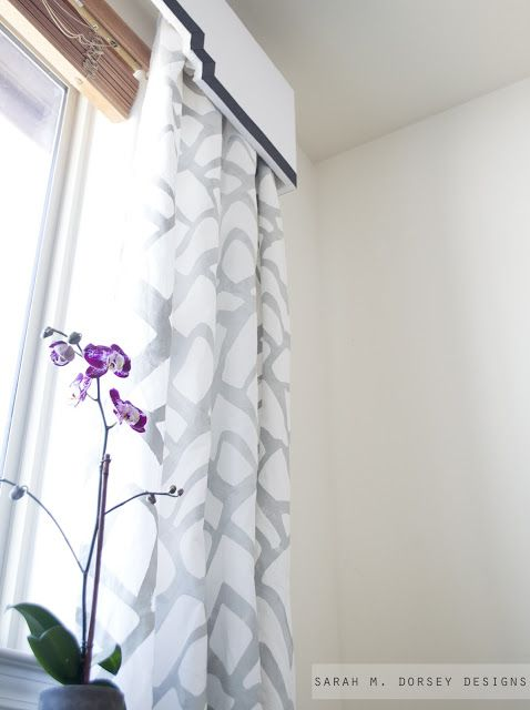 And My Knockoff Project Was Painted Curtains Stenciled Curtains