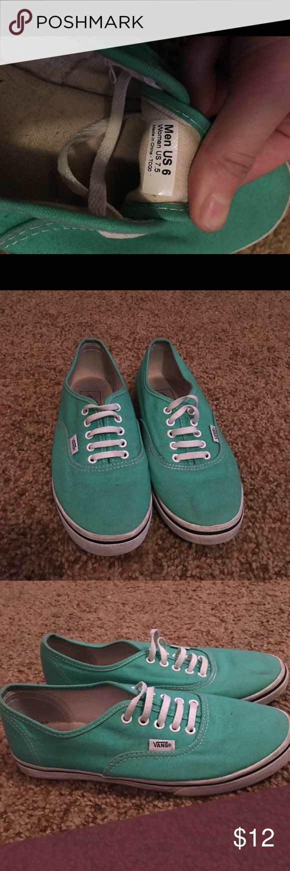 8be9ce1276 Mint Green Lo Vans women s size 7.5 worn a handful of times