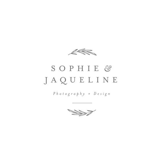 Photo of Photography logo, leaf branch logo, modern wreath logo, wedding logo, botanical logo, classic serif logo, custom logo, leafy ,, foliage