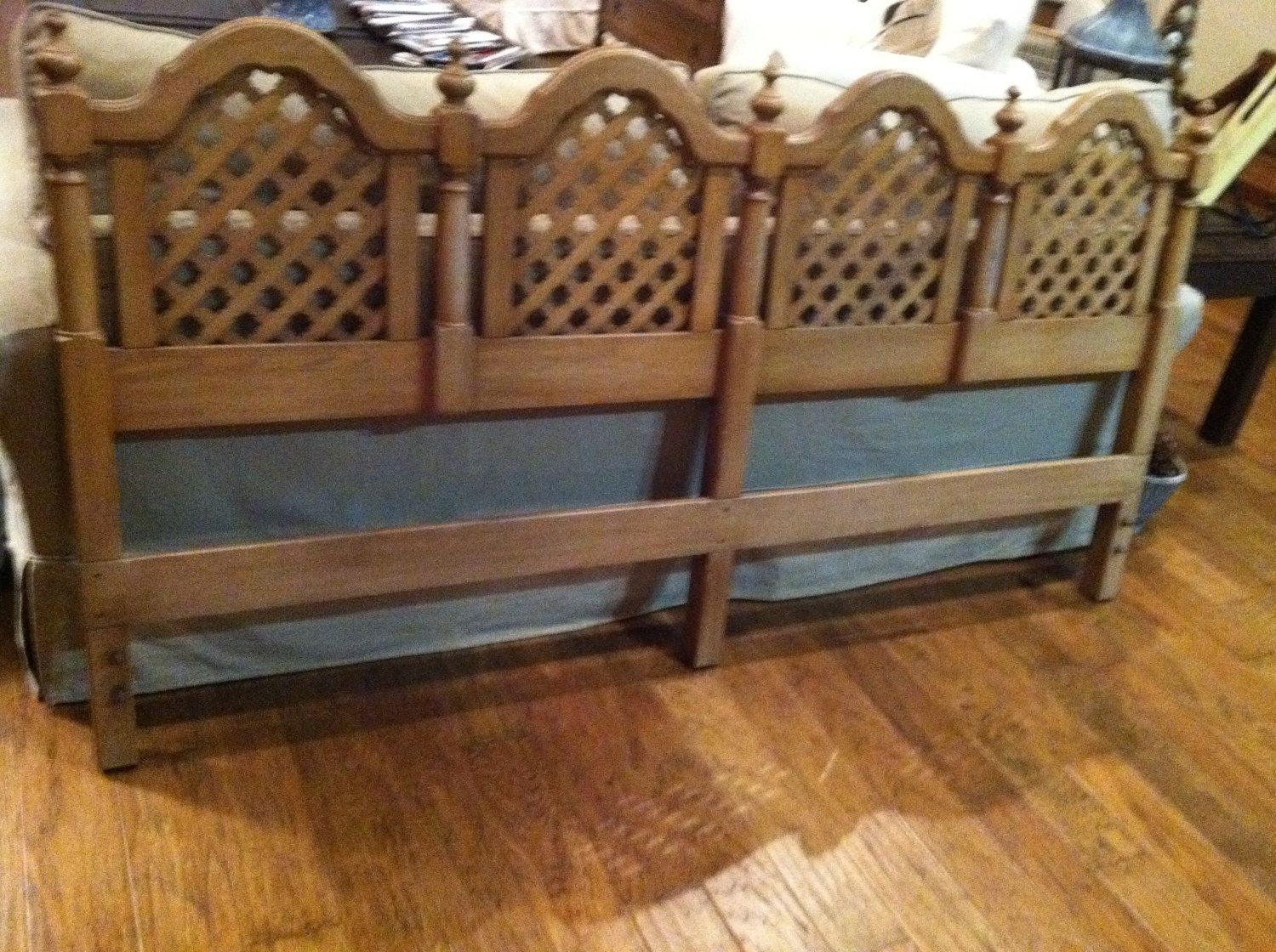 vintage king size headboard from 70s very retro by TONITIQUES | In ...