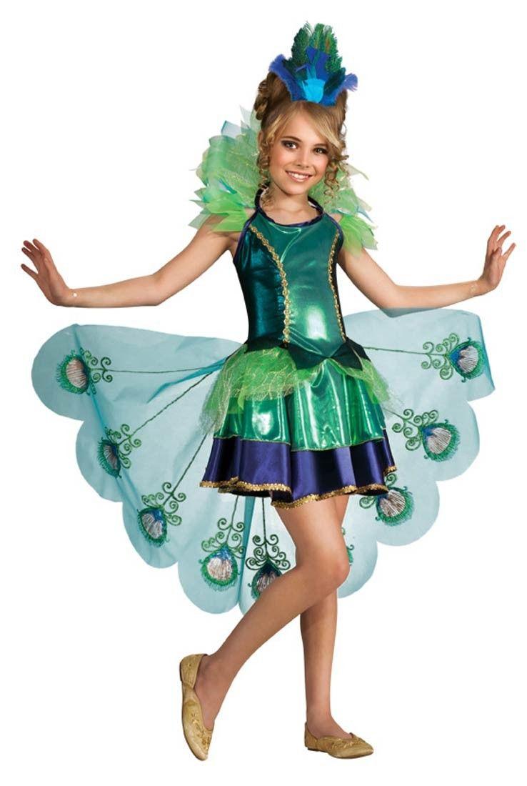 Fantasia Pavão Infantil Meninas Halloween Carnaval Festa  ad22cbb75a6b