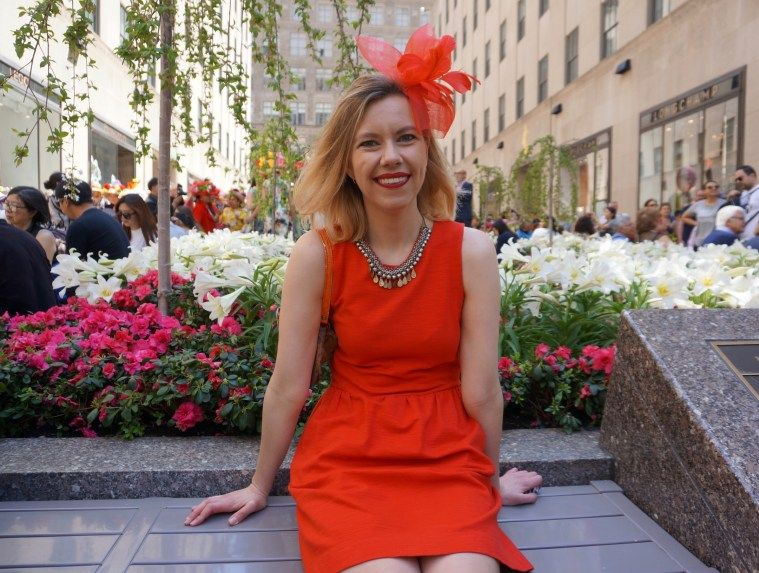 Style steet easter in nyc photo