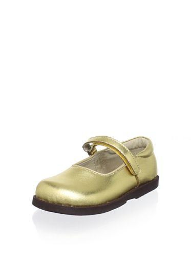 See Kai Run Elin Mary Jane (Little Kid Big Kid) (Gold) A metallic finish  adds extra glam to this hook-and-loop style 1bb334a777