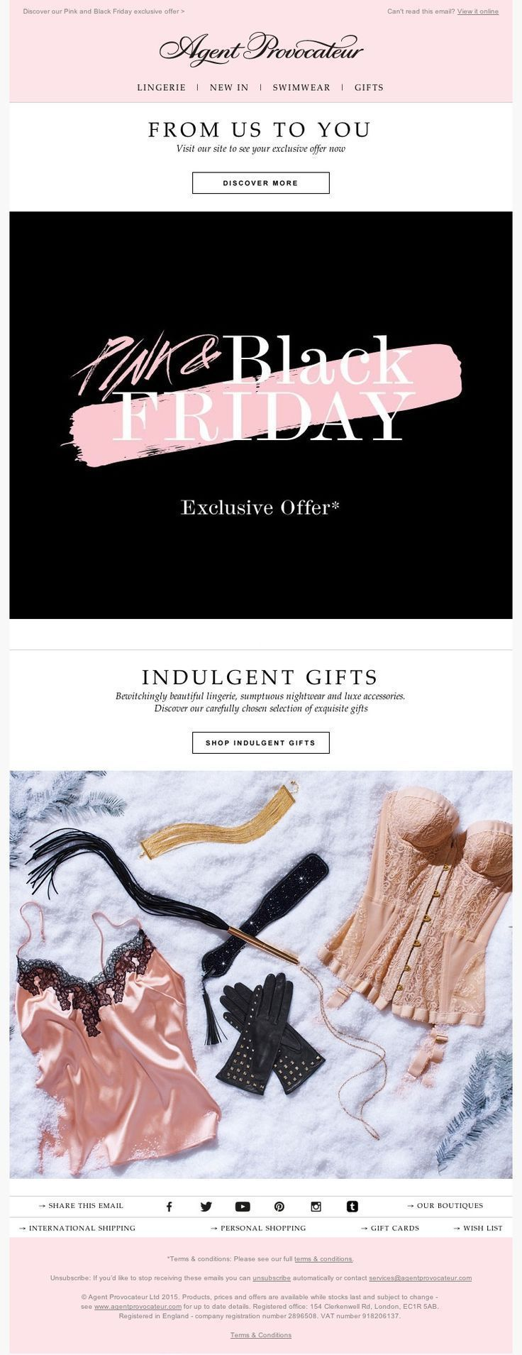 Agent Provocateur - 27.11.15 SL: Pink and Black Friday. If you like UX, Design, ..., #Agent .... #blackfridaymemes