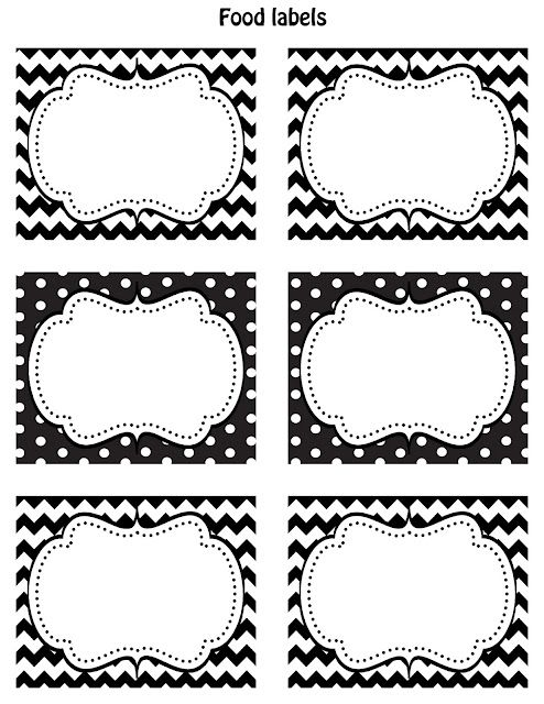 Cupcake Express Happy Friday!! FREE Printable food labels! Cute - blank label template