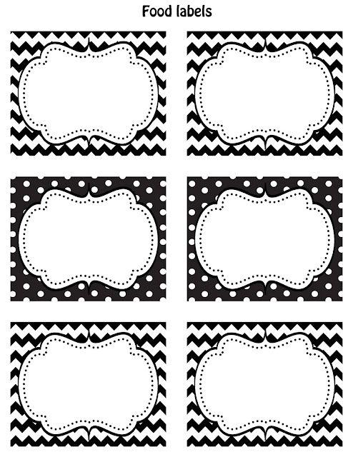 Free Black  White Printable Labels  Printable Labels Free Black