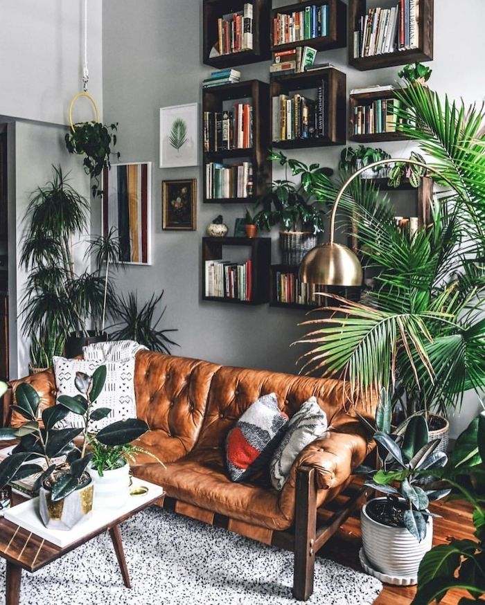 42 Simple But Useful Living Room Shelving Ideas images