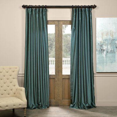 Astoria Grand Sagunto Synthetic Solid Blackout Thermal Pinch Pleat Single Curtain Panel Vintage Curtains Drapes Curtains Velvet Curtains