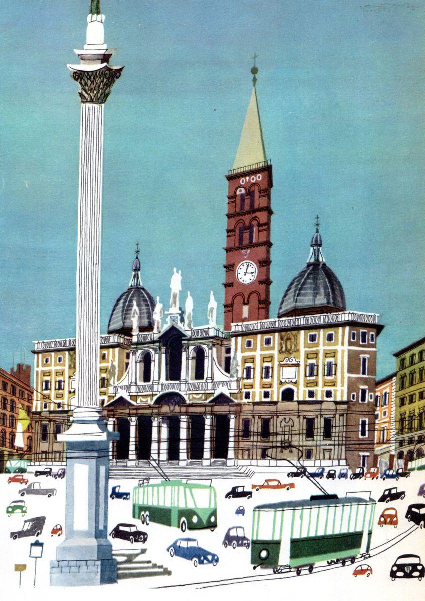 This Is Miroslav Sasek Honestly Wtf City Illustration Architecture Illustration Retro Illustration