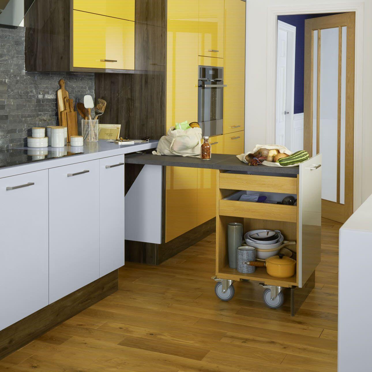 Worktop Plus Space saving kitchen, Kitchen innovation