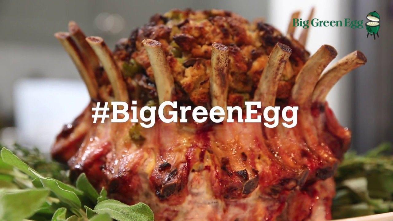 Pork Crown Roast On A Big Green Egg Green Egg Recipes Big Green Egg Crown Roast