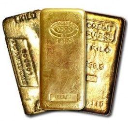 1 Kilo .999+ Gold Bullion Bars
