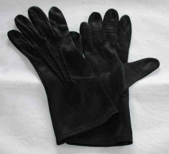 Vintage Gloves Women's Wrist Length Black by ilovevintagestuff