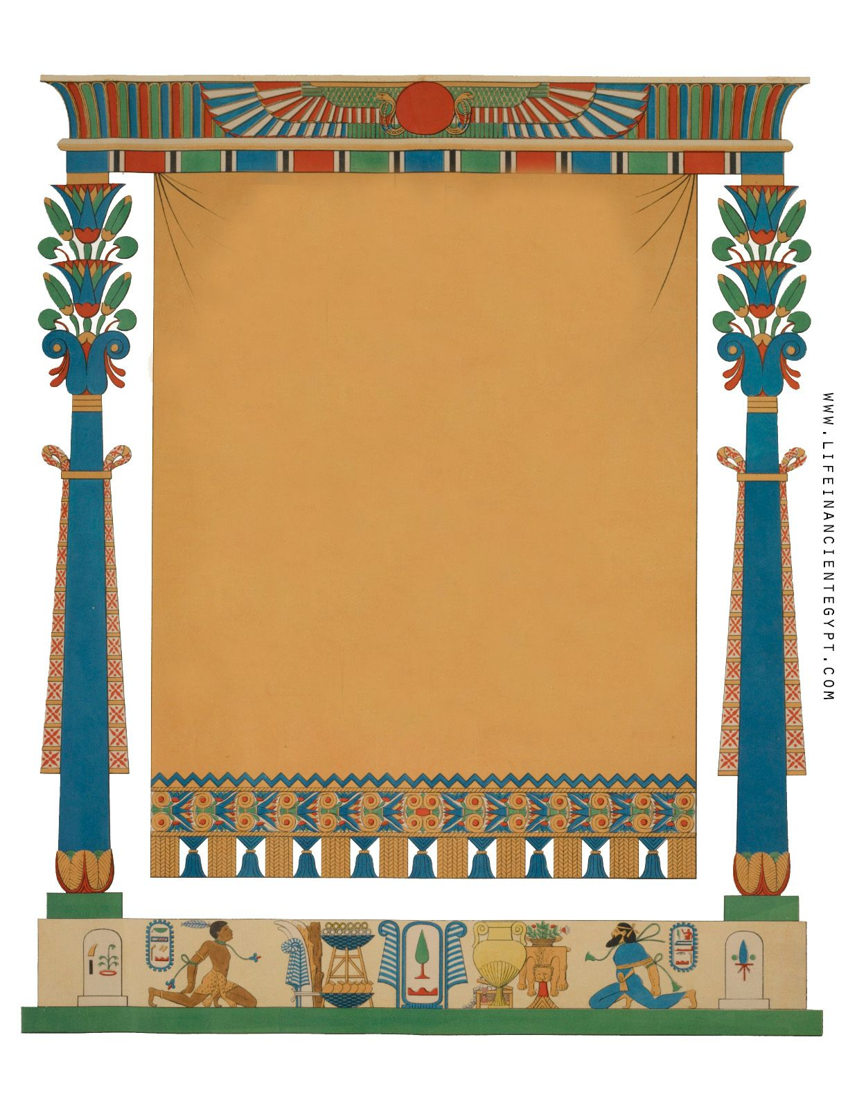 Free Printable Ancient Egyptian Clipart Frame For Page