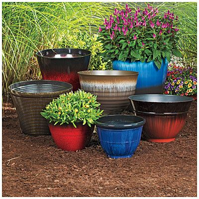 Assorted Finish Fashion Planters Planters Outdoor Planters