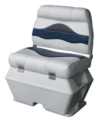 Sensational Wise Premium Pontoon Boat Double Captains Seat With Cooler Alphanode Cool Chair Designs And Ideas Alphanodeonline