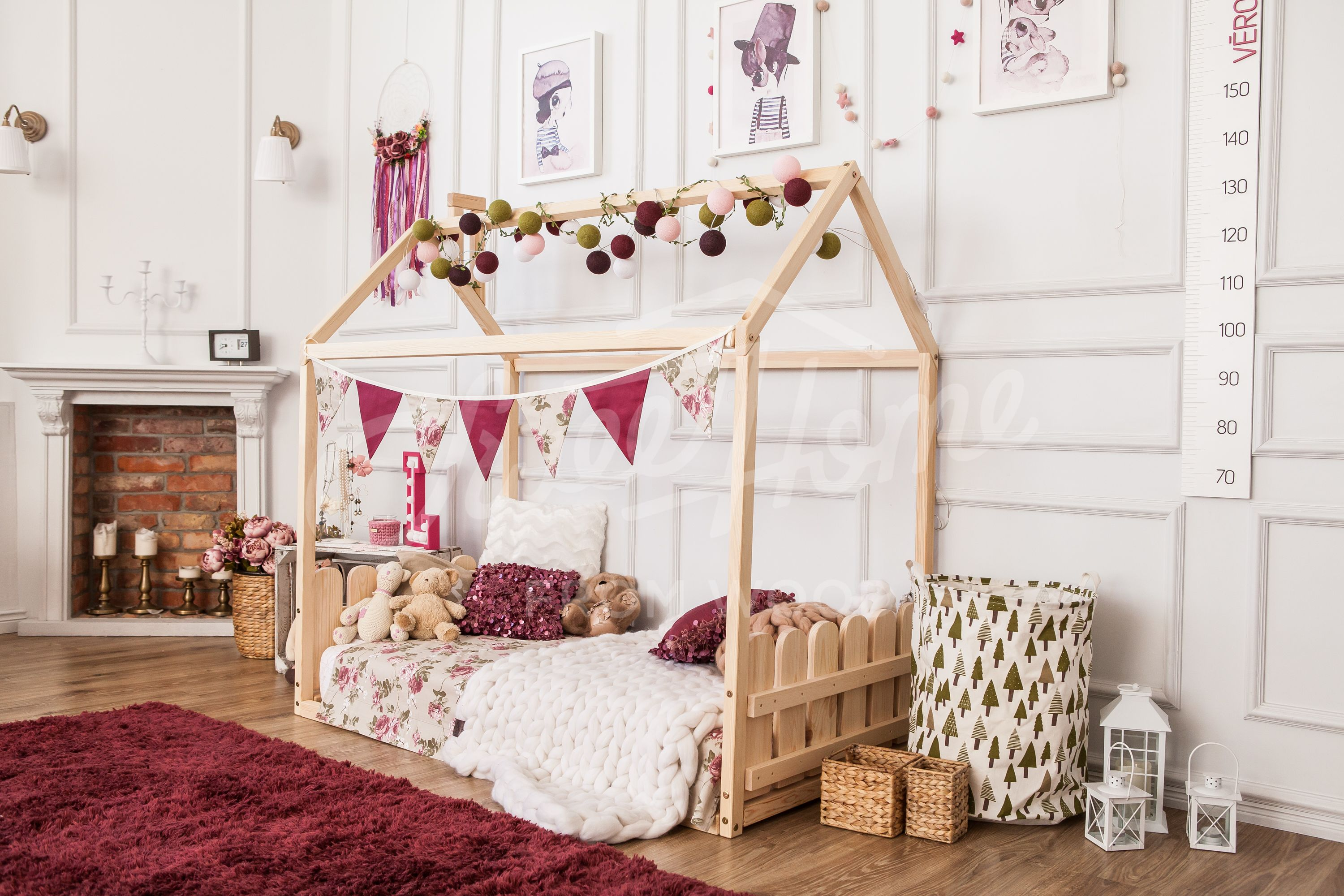 Toddler House Bed Without The Slats Montessori Bed House Kid Bed