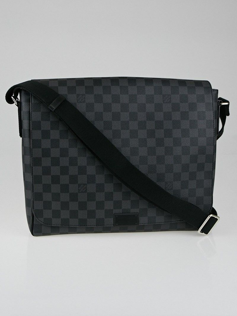 baaa3955f9cc Louis Vuitton Damier Graphite District GM Messenger Bag