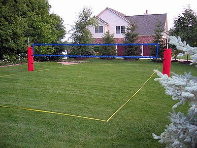How To Construct A Grass Artificial Turf Volleyball Court