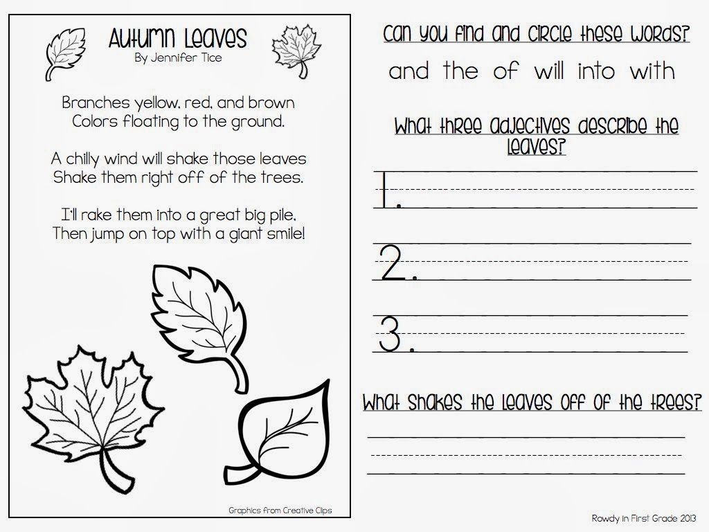 rowdy in first grade autumn poem fall pinterest poem school and fall poems. Black Bedroom Furniture Sets. Home Design Ideas