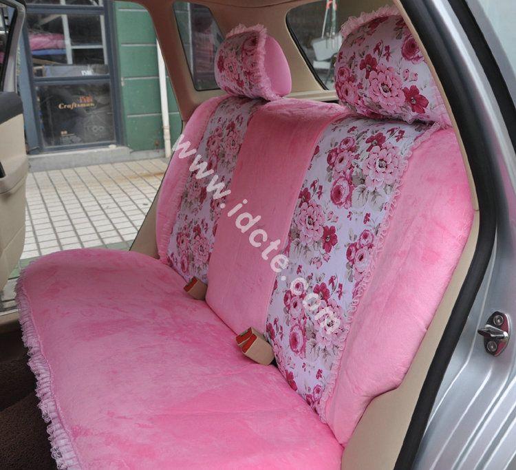 Buy Wholesale Bow Lace Universal Auto Car Seat Cover Set Short