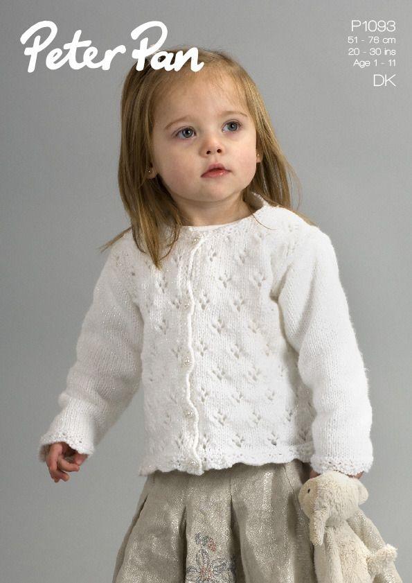 Cardigan & Sweater in Peter Pan DK - 1093   kids knit   Pinterest ...