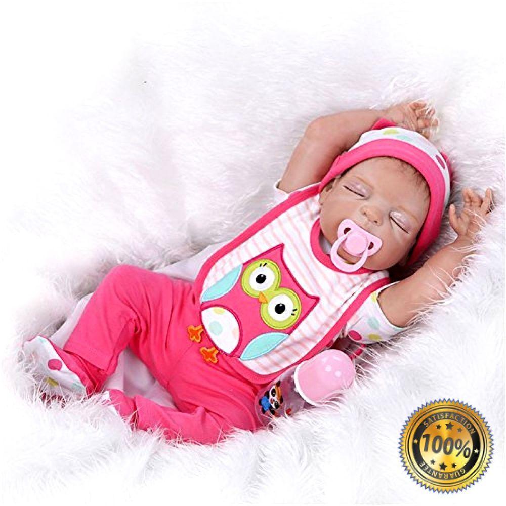 55cm Full Body Silicone Reborn Baby Doll Newborn Boy Gift Handmade Realistic Toy