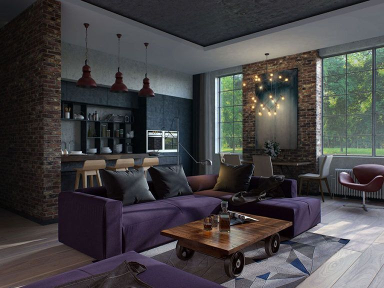 Industrial Living Room Open Spaces Come Arredare Open Space Cucina Soggiorno Ecco 40 Idee Fotog Apartment Design Small Apartment Design Loft Style Apartments