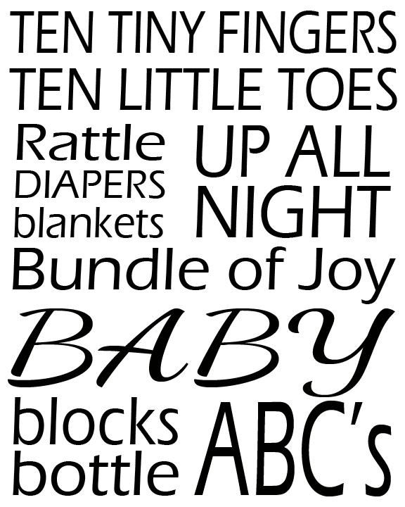 Baby Subway Art Printable. christmas wall art typography