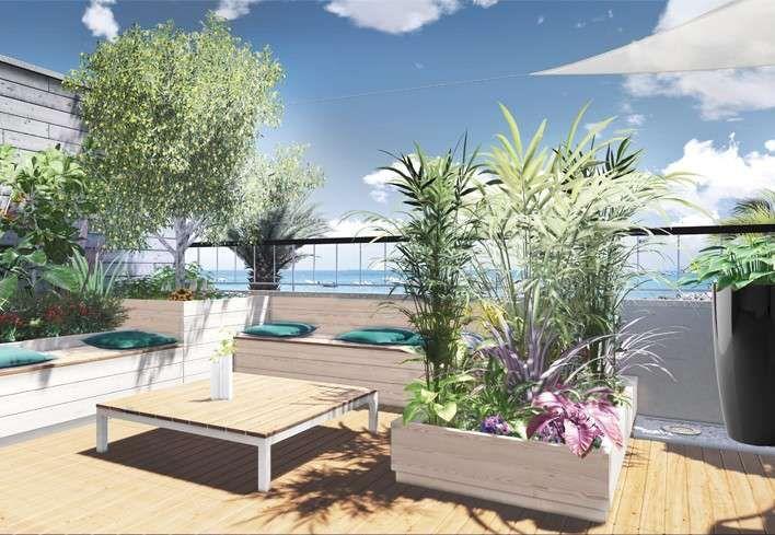 Arredare un terrazzo scoperto - Terrazzo scoperto con piante esotiche