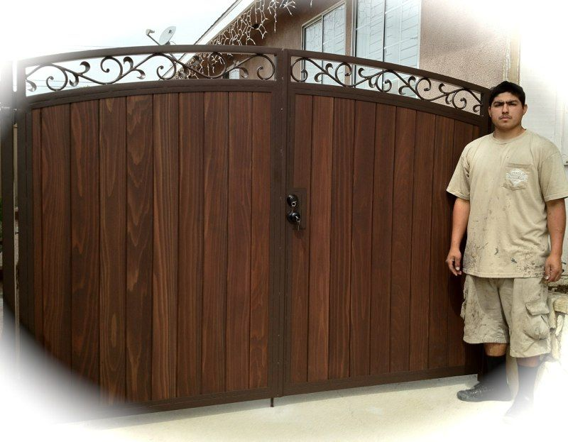 STEEL FRAMED WOOD GATES. Services SC | backyard ...