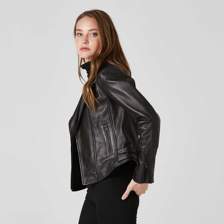 Womens Leather Moto Jacket With Black Hardware 2 Leather Jacket Leather Jackets Women Stylish Leather Jacket [ 1500 x 1500 Pixel ]