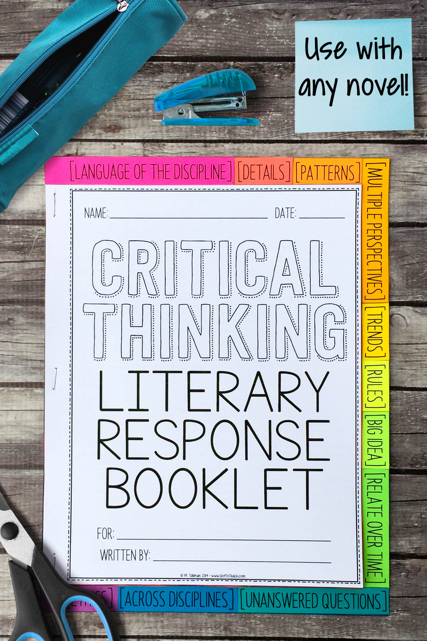 Depth And Complexity Literary Response Booklet