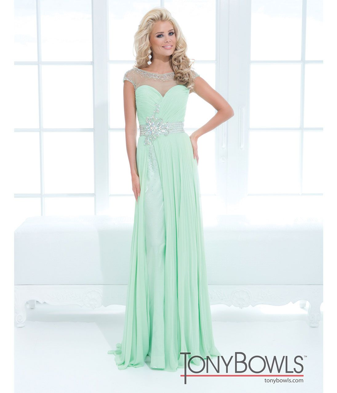 Mint Green Homecoming Dress With Straps - Missy Dress