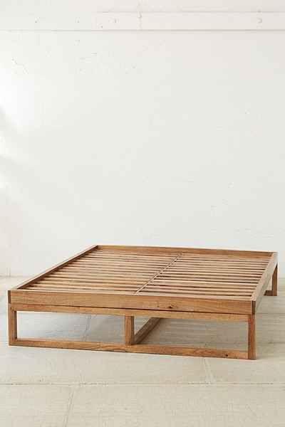 Morey Platform Bed | Cama de plataforma de madera, Camas y Camas de ...