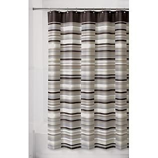 Brown Taupe Grey White Striped Shower Curtain Kmart