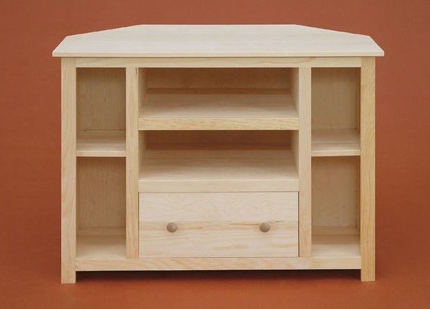 0480410 In By Valley Run Woodworks Albany Ny Unfinished Pine Corner Tv Stand