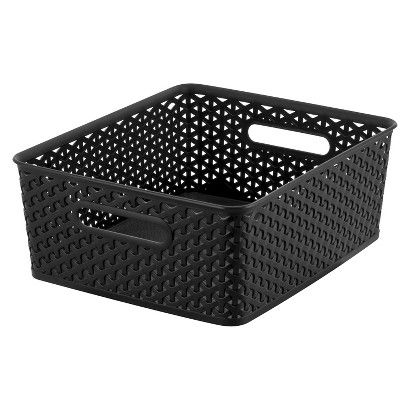 Great Room Essentials™ Y Weave Storage Bin   Black Medium
