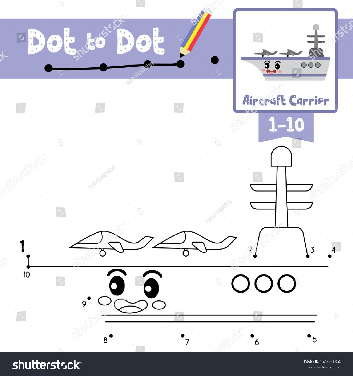Dot To Dot Educational Game And Coloring Book Of Cute