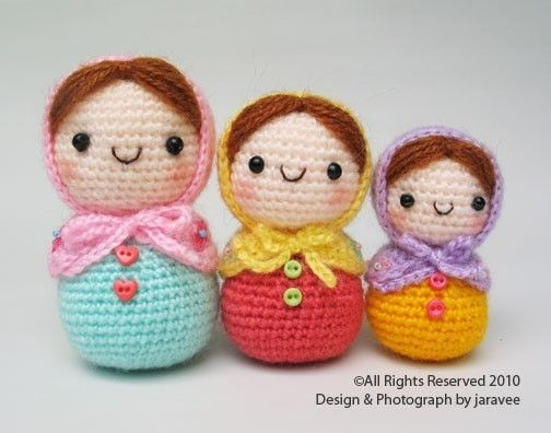 Matryoshka Doll Pdf Crochet Pattern Engel Pinterest Häkeln