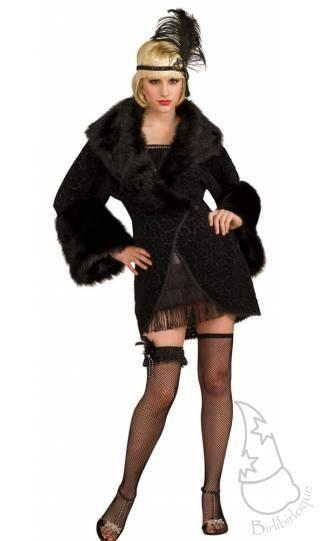 Para Disfraces Abrigo Negro Disfraz Charleston De En Uwnwpqx48