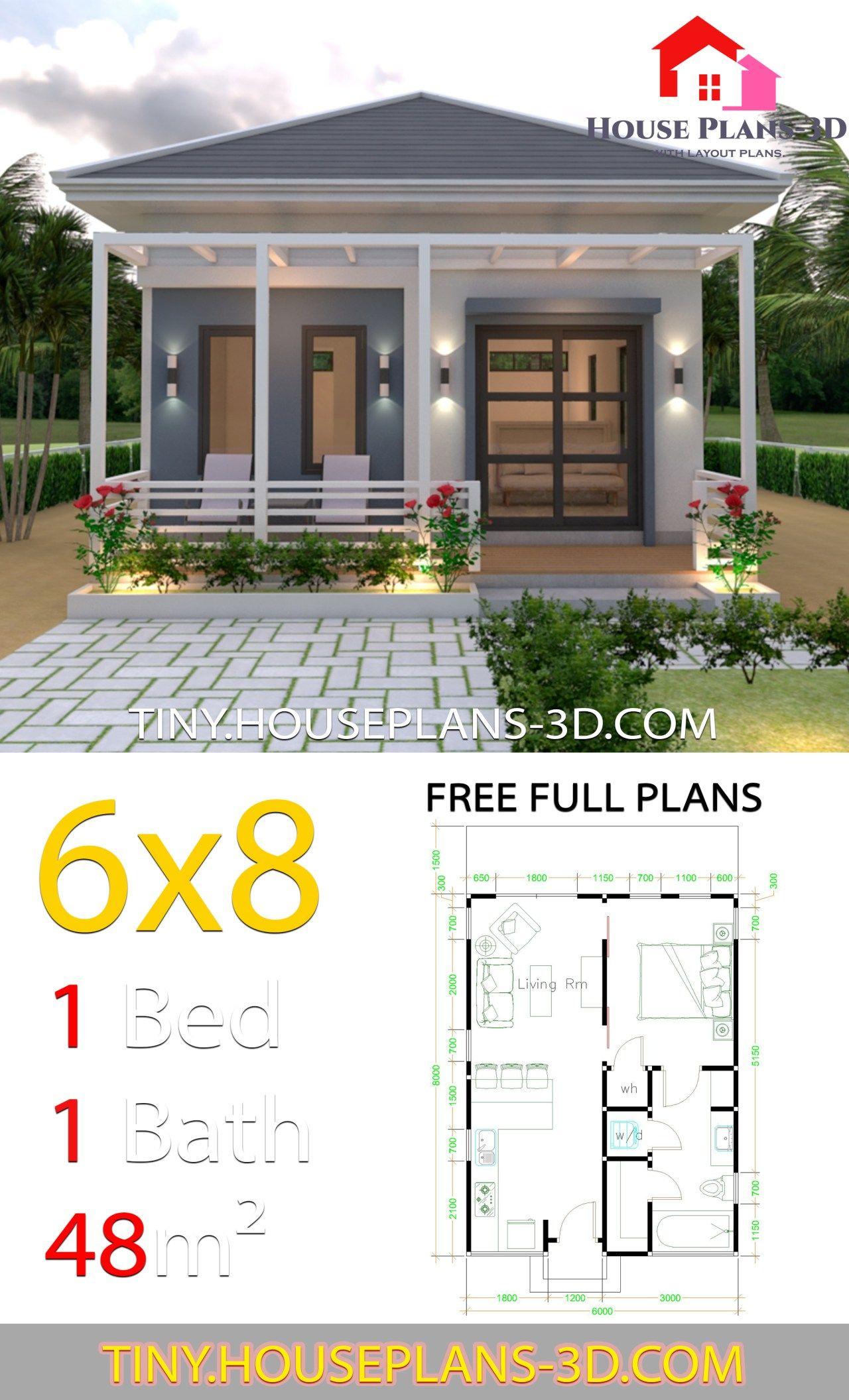 Studio House Plans 6x8 Hip Roof Tiny House Plans House Layouts Dream House Plans Small House Plans