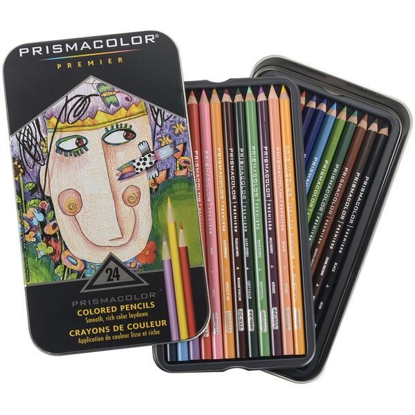 Prismacolor Premier Colored Pencils 24 Pkg W Bonus Art Stix 49 99