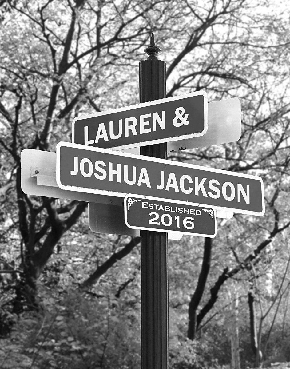Amazon Lovers Lane Personalized Print Includes Names And The
