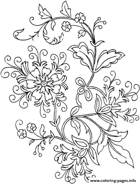 Print simple flower Coloring pages Free Printable | Coloring 2 ...