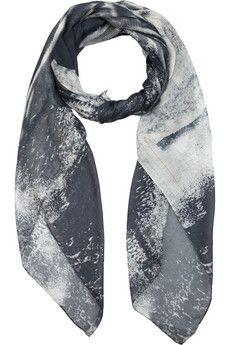 McQ Alexander McQueen  Abstract-print modal and silk-blend scarf