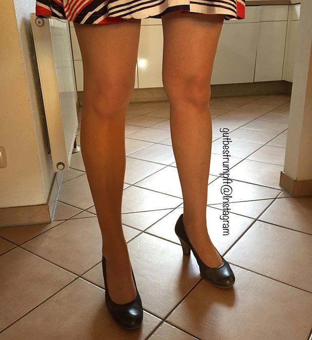pumps und strumpfhose