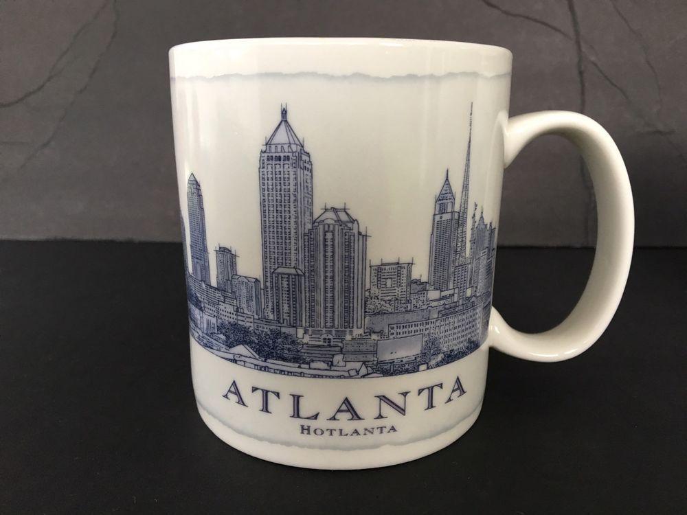 e7573e9dd06 Starbucks Mug 2008 Architecture Series Atlanta GA Hotlanta 18 oz Coffee Tea  Cup #Starbucks